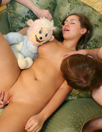Cute teen model Milana gets both holes plugged