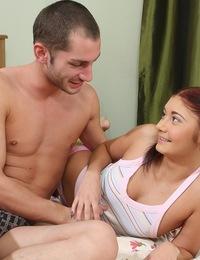 Playful teen Cassie gets her sexy ass fucked hard